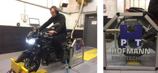 Motorcycle chassis dynamometer (Dyno)