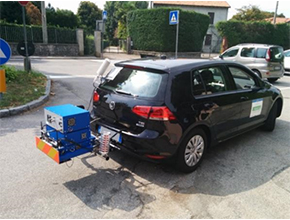 External mounting emissions measuring system