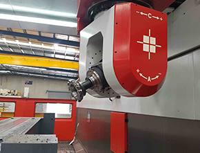 HSK 63 and HSK 100 high speed profile milling heads