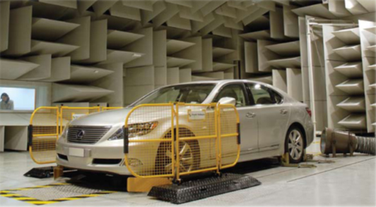 chassis dynamometer in a test cell
